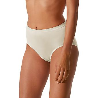 Mey 89201-20 Women's Pearl White Solid Colour Full Panty Highwaist Brief
