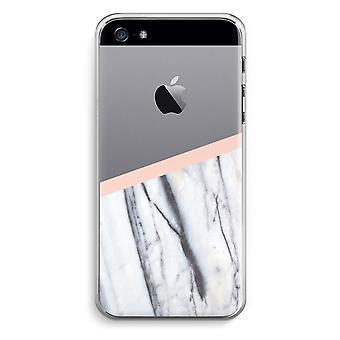 iPhone 5/5 s ・ SE 透明ケース (ソフト) - 桃のタッチ