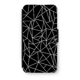 iPhone 6/6S Plus Flip Case - geometriske linier hvid