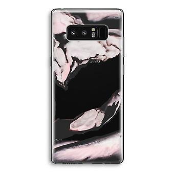Samsung Galaxy Note 8 Transparant Case - Pink stream
