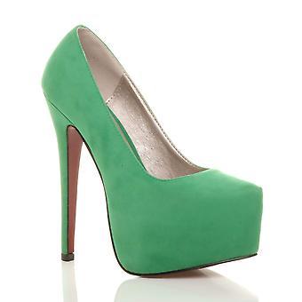 Ajvani damskie wysokie szpilki ukryte pompy buty platformy strony sądu