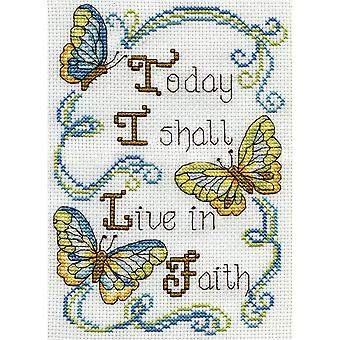 Live In Faith Mini Counted Cross Stitch Kit-5