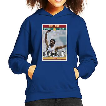 Sporting Legends Poster England Daley Thompson Champion 1984 Olympics Kid's Hooded Sweatshirt