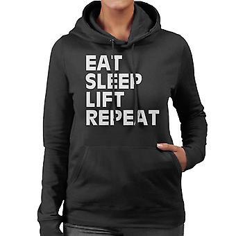 Mangiare Hooded Sweatshirt femminile ripetere sonno Lift