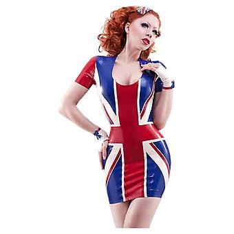 Westward Bound Britannia Latex Rubber Dress.