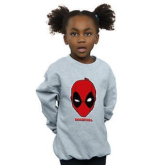Marvel Girls Deadpool Mask Sweatshirt