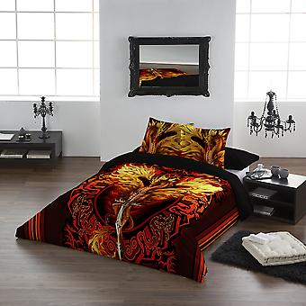 DRAGON FLAME BLADE- Duvet & Pillowcases Covers Set UK King/Us Queen