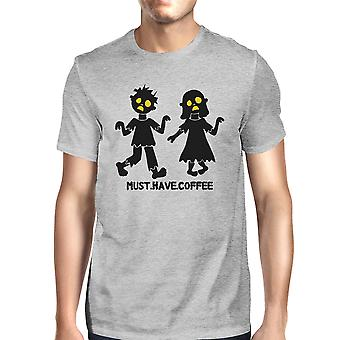 Must Have Coffee Zombies Mens Halloween Tshirt Funny Graphic Tee