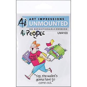 Art Impressions People Cling Rubber Stamp 4