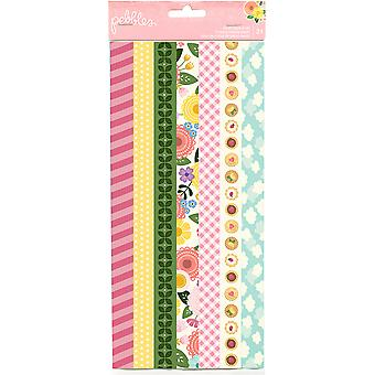 Tealightful Washi Tape Strip Sheets 3/Pkg-