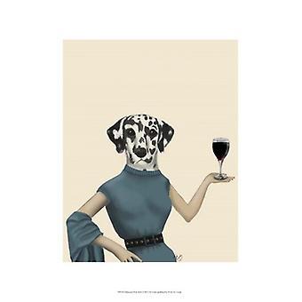 Dalmatian Wine Snob Poster Print by Fab Funky (13 x 19)