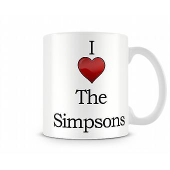 I Love The Simpsons Printed Mug