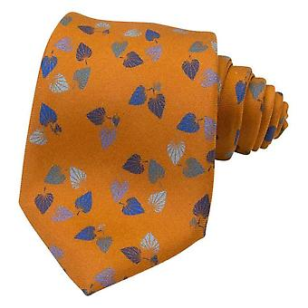 40 Colori Birch Printed Silk Tie - Rust Orange