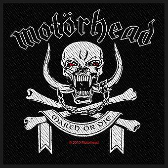 Motorhead March Or Die Iron-On / Sew-On Patch 95Mm X 95Mm