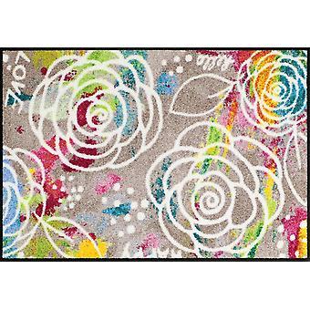 Salon lion blossom carpet mats washable dirt mat