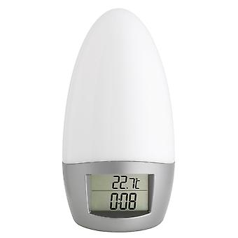 Wake-up light electronic digital plastic with radio alarm clock