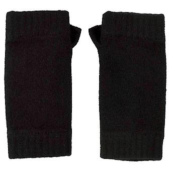 Johnstons of Elgin Wrist Warmer Gloves - Black