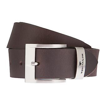 TOM TAILOR belt leather belts men's belts men's leather belts Brown 1240