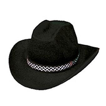 Accesorios de Black Hat de sombrero de vaquero de Dallas Halloween Carnaval