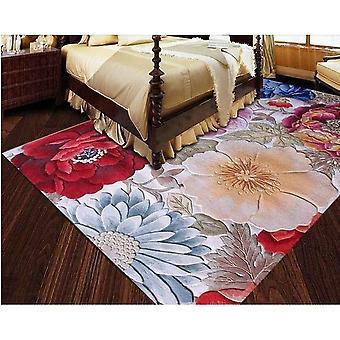 100% Floral Wool Large Size Carpets For Parlor Living Room (multi Flower Design)
