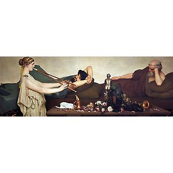 The Siesta, Sir Lawrence Alma-Tadema, 80x40cm