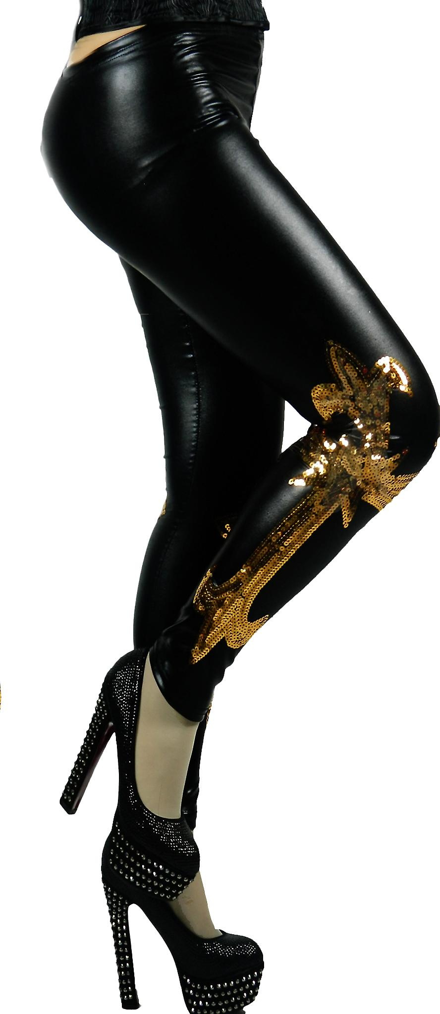 Waooh - Fashion - Leggins Muster Kreuz und goldenen sequins