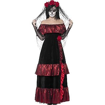 Day of the Dead Bride Costume, UK 20-22