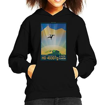 NASA HD 40307g A Super Earth Interplanetary Travel Poster Kid's Hooded Sweatshirt