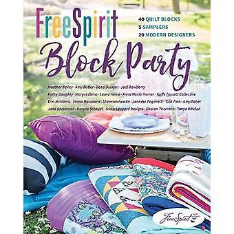 FreeSpirit Block Party - 40 Quilt Blocks - 5 Samplers - 20 Modern Desi