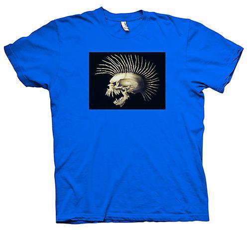 Mens t-skjorte-Punk skallen med Spines