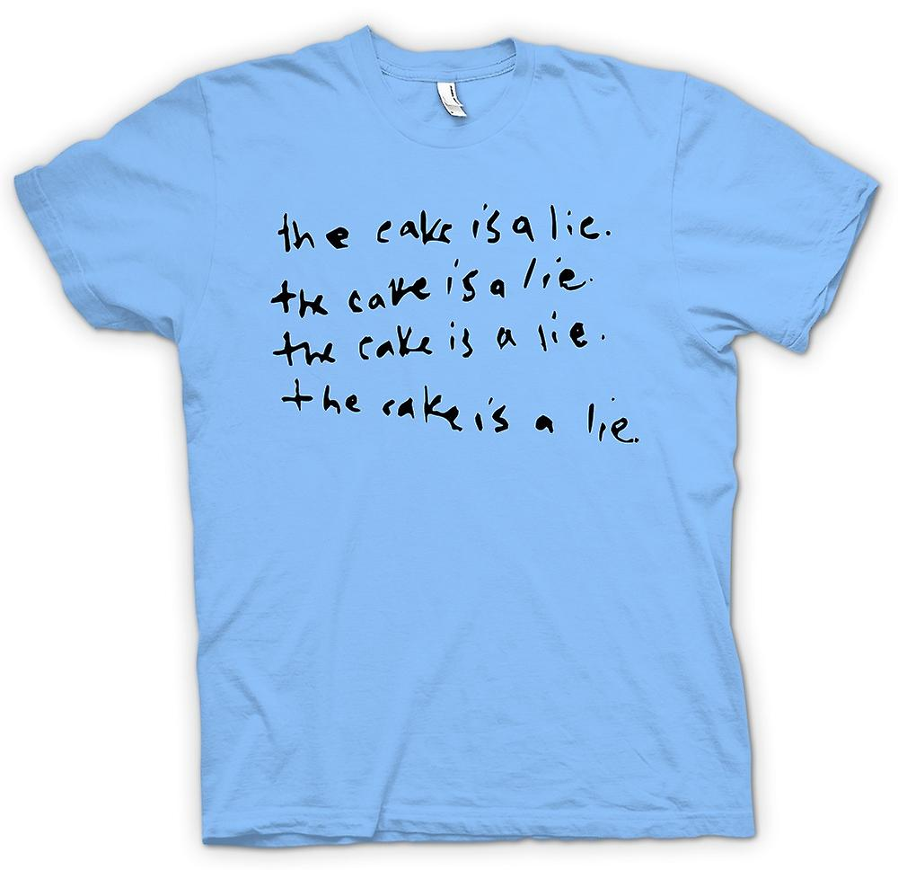 Mens T-shirt - The Cake Is A Lie - Funny