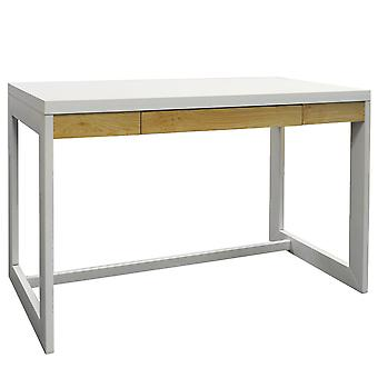 Office Workstation / Computer Desk With Drawer - White / Heartwood