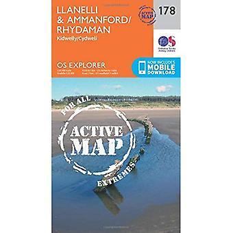 OS Explorer Map Active (178) Llanelli and Ammanford/Rhydaman (OS Explorer Active Map)