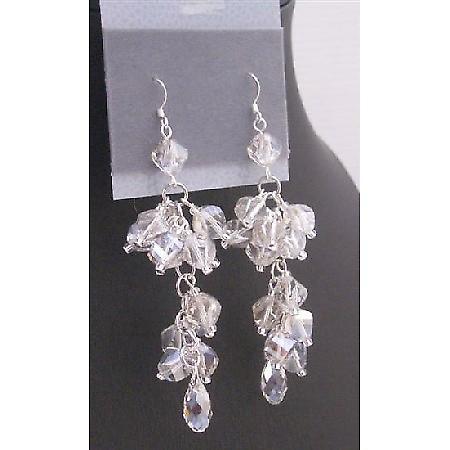 Austrian Crystals 8mm Helix Pineapple Teardrop Swarovski Bead Earrings