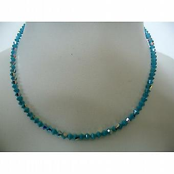 Blue Lagoon Swarovski Turquoise AB Coated Round Neck Necklace String