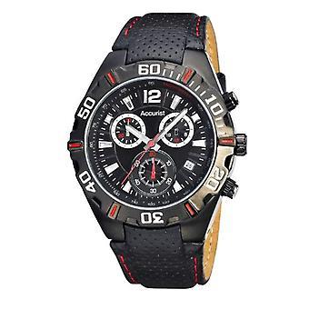 Accurist wrist watch, Chronograph, Man, skin, black (2)