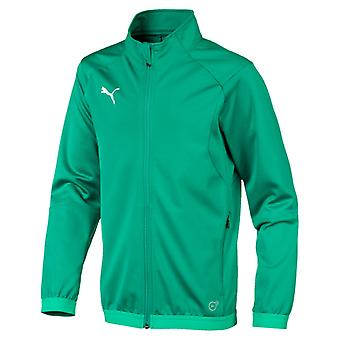 PUMA LIGA Training Jacket Jr Kinder Jacke Pepper Grün-Weiss