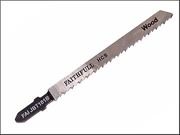 Faithfull Jigsaw Blades T Shank For Wood T101B (Pack 5)
