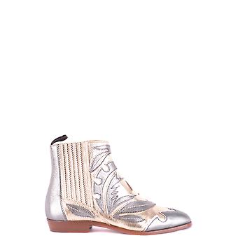Santoni Multicolor Leather Ankle Boots