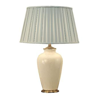 Ryhall Ivory And Brass Small Table Lamp - Base Only - Interiors 1900 R02SC