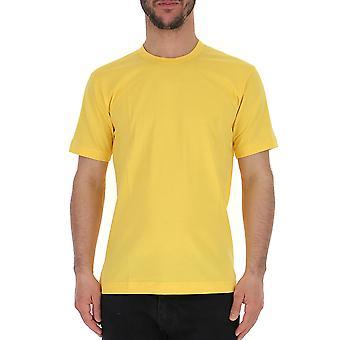 Comme Des Garçons Yellow Cotton T-shirt