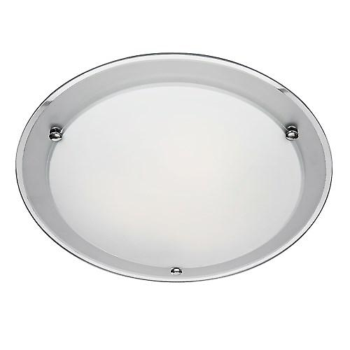Searchlight 8242-42 Flush Ceiling Light With Round Etched Mirror Band 42cm
