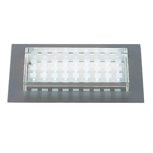 Endon EL-40018 Chrome And Glass Recessed Led Brick Light