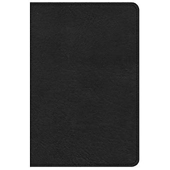 KJV Large Print Compact Reference Bible, Black Leathertouch