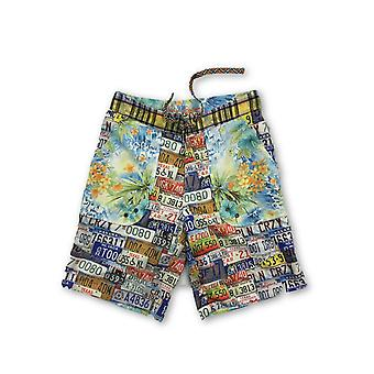Robert Graham 'Avignon Licence Plate' Board Shorts