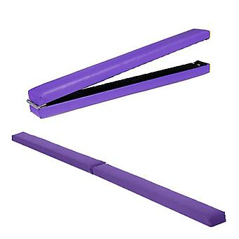 Fun!ture® Purple 7ft Faux Leather Folding Gymnastics Balance Beam