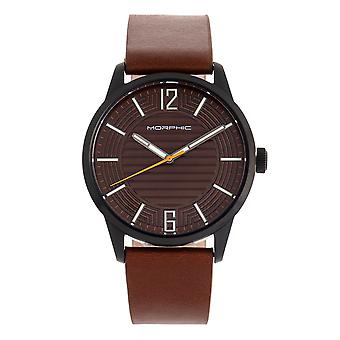 Morphic M77 Series Leather-Band Watch - Brown