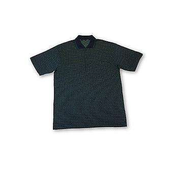 Ho polo shirt in green geoetric pattern