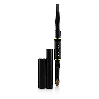 Kiss Me Heavy Rotation Fit Fiber In Double Eyebrow Pencil - # 02 Dark Brown - 0.39g/0.014oz