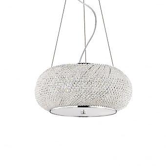 Ideale Lux Pasha 6 Glühbirne Anhänger Licht Chrom